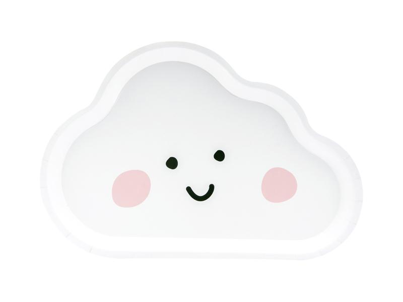 6 assiettes nuage