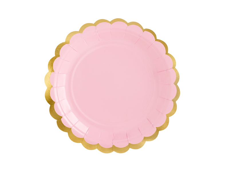 assiette-rose-doree