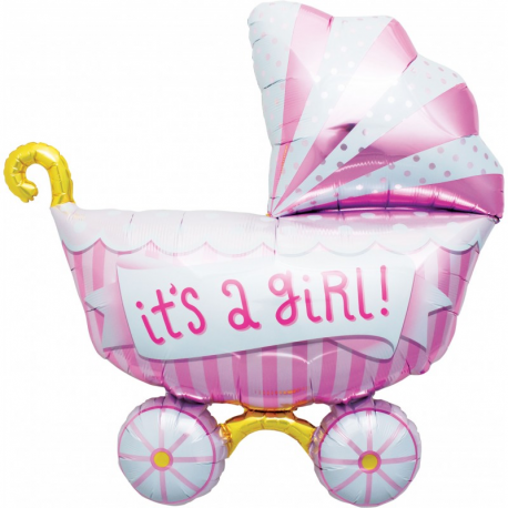 Ballon mylar its\'a girl landau rose