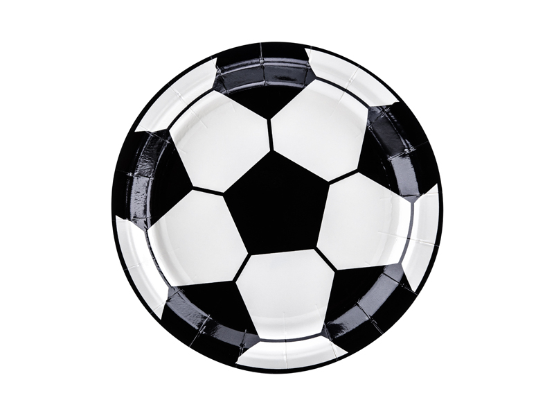 6 assiettes ballons de foot
