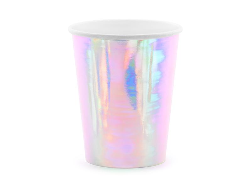 6 gobelets carton iridescent