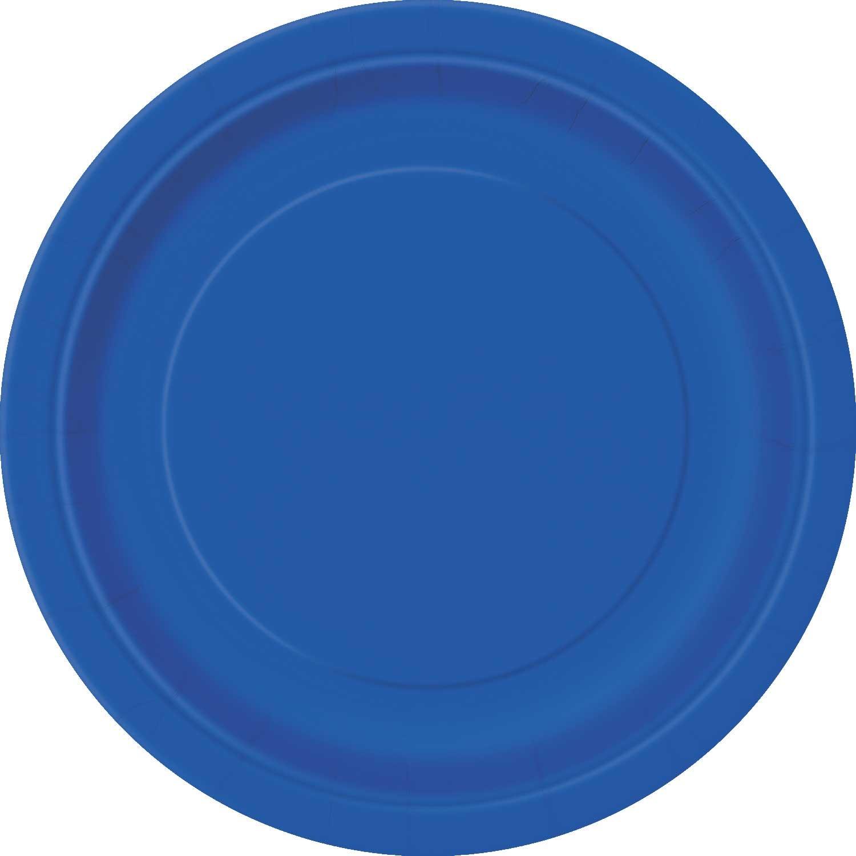 8 assiettes dessert bleu roi