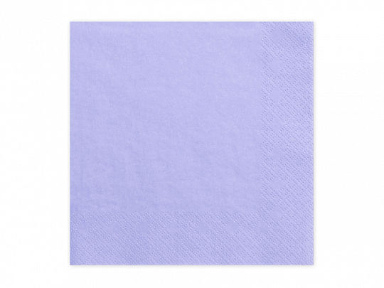 20 serviettes unies mauve