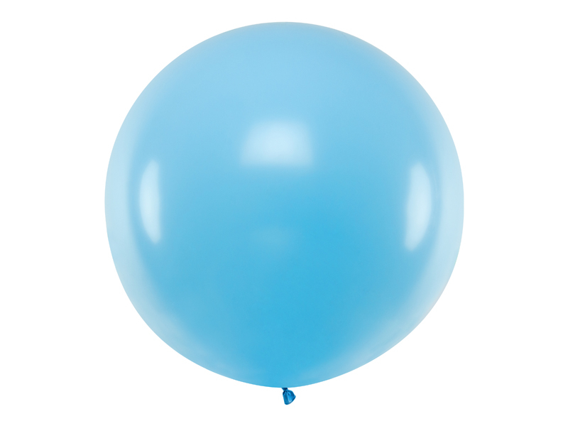 Ballon géant latex bleu clair pastel