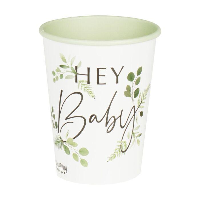 8 gobelet baby shower botanique