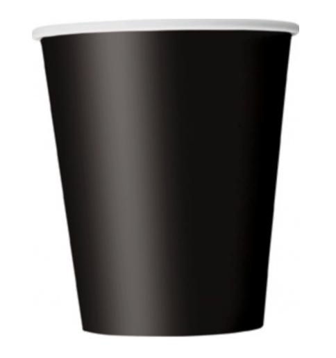 gobelet noir Noire Fête Gobelet 8er Pack 270 ml jetables gobelets