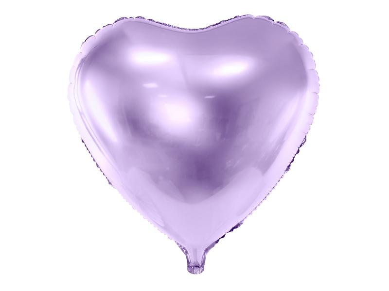 Ballon aluminium coeur mauve