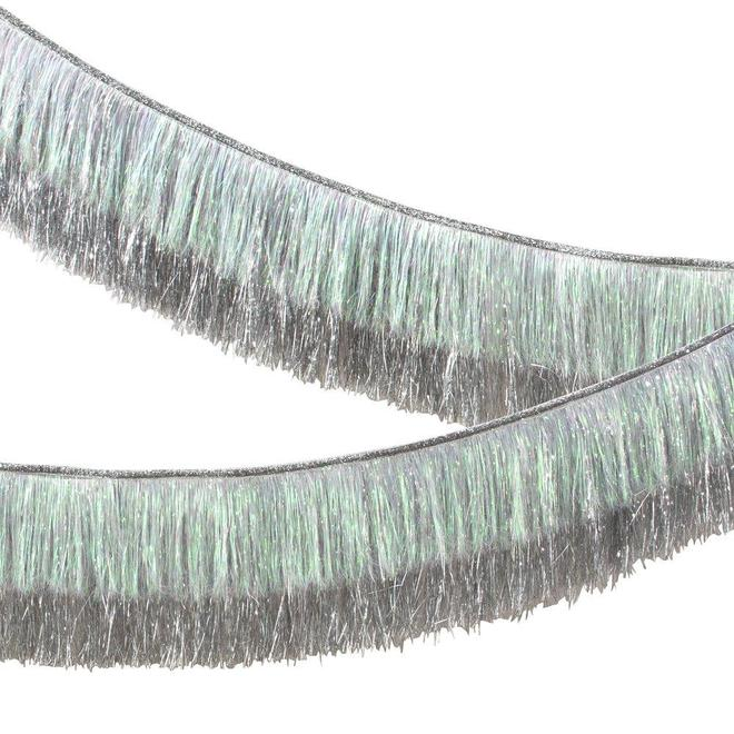Guirlande franges argentées