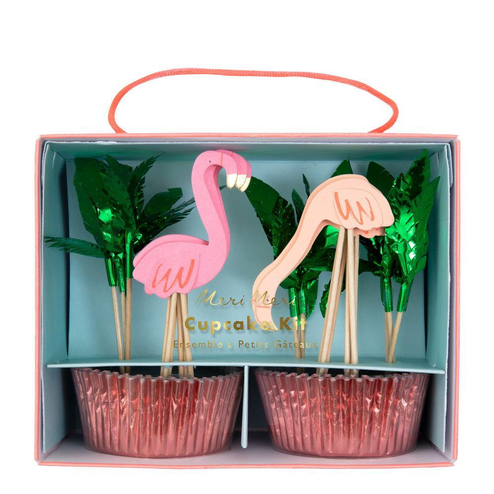 Kit cupcake Flamant rose