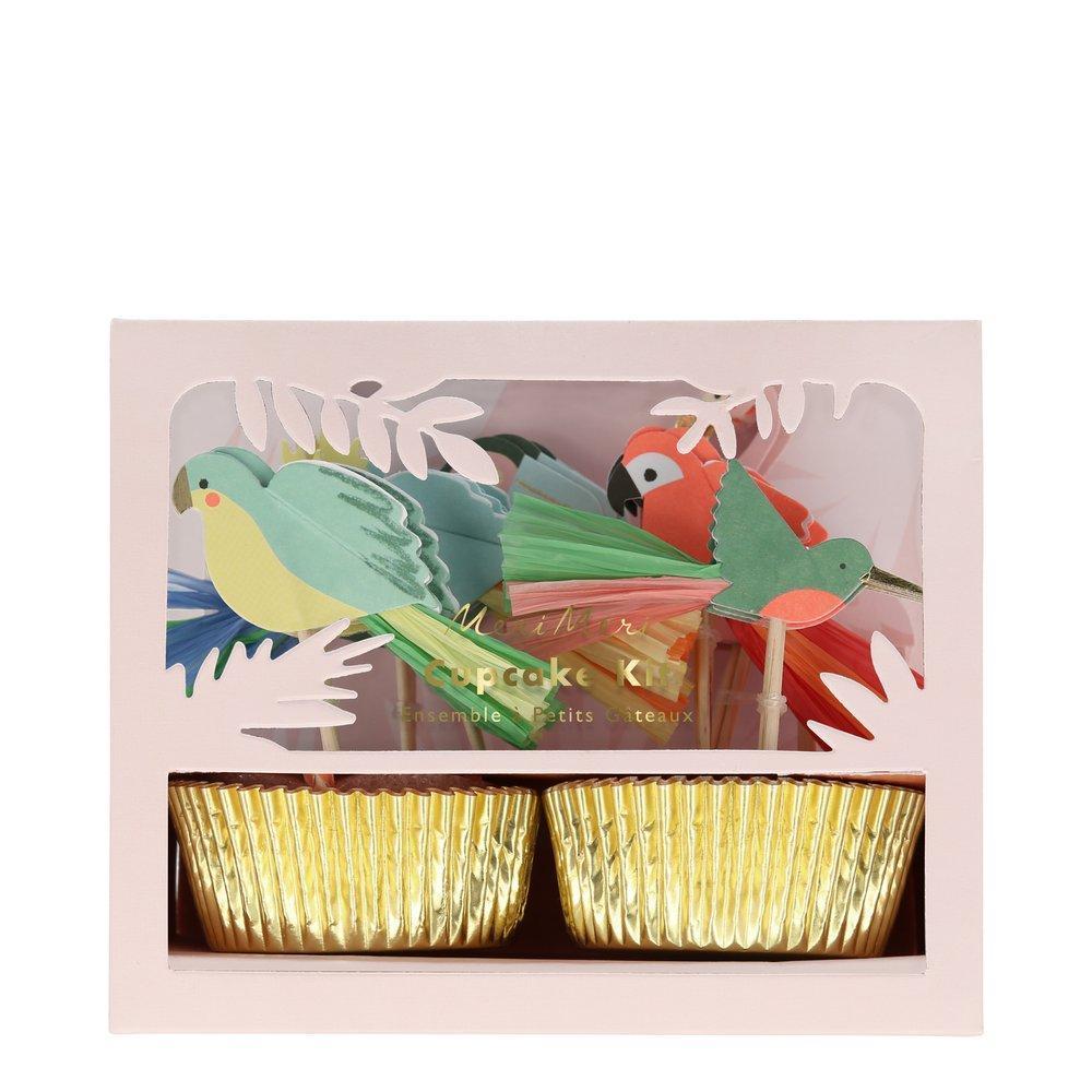 Kit cupcake perroquet