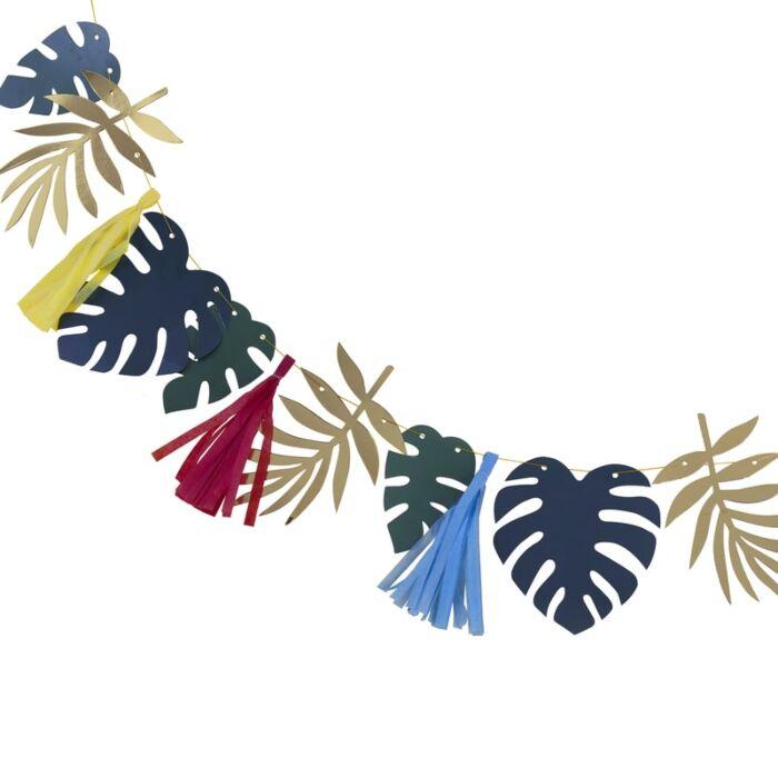 Guirlande tropicale colorée