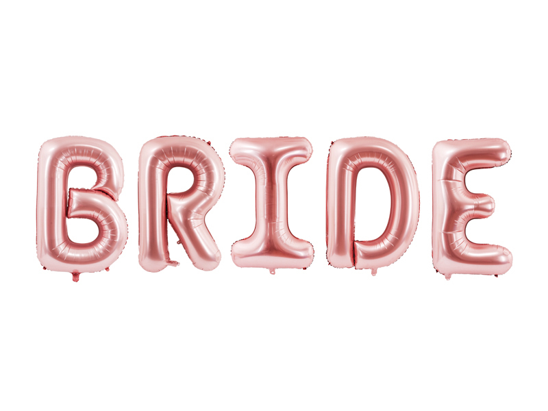 Ensemble de ballons mylar BRIDE rose
