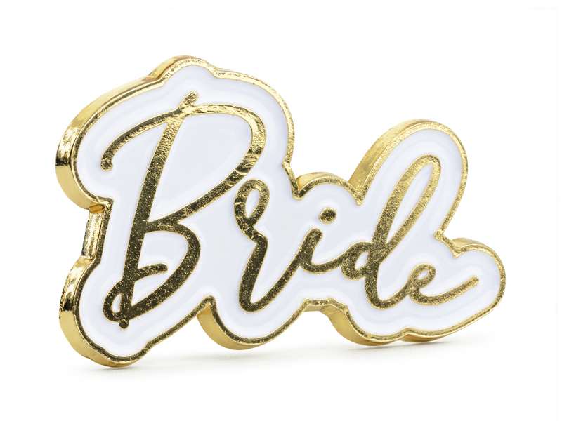 Pin\'s blanc EVJF Bride