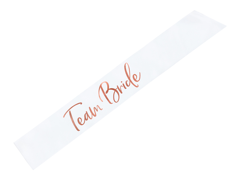 Echarpe Team Bride blanche et rose gold