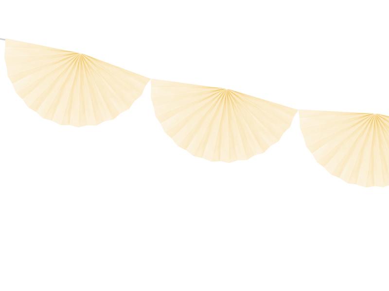 Guirlande rosace papier crème