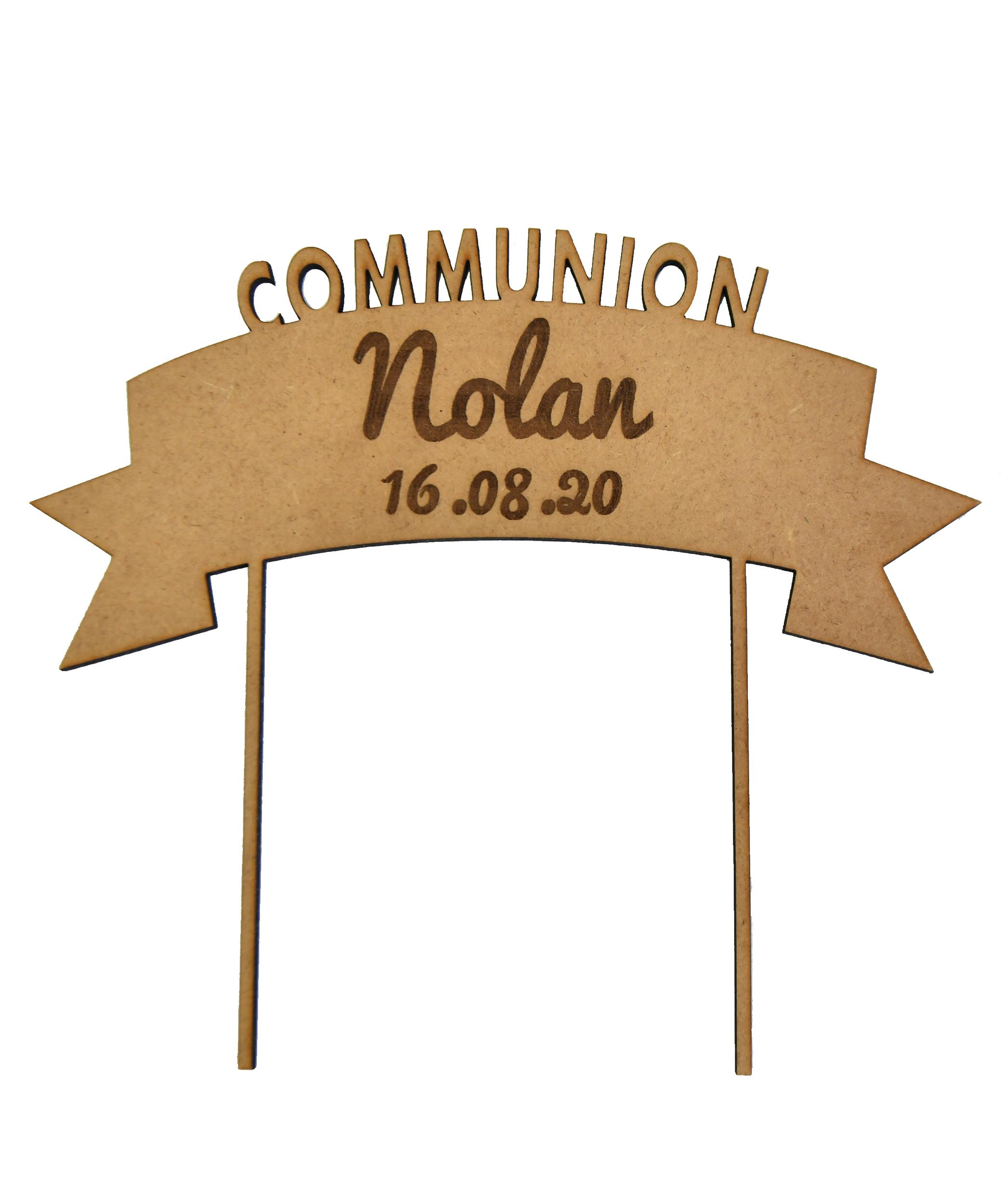 Cake topper personnalisé communion