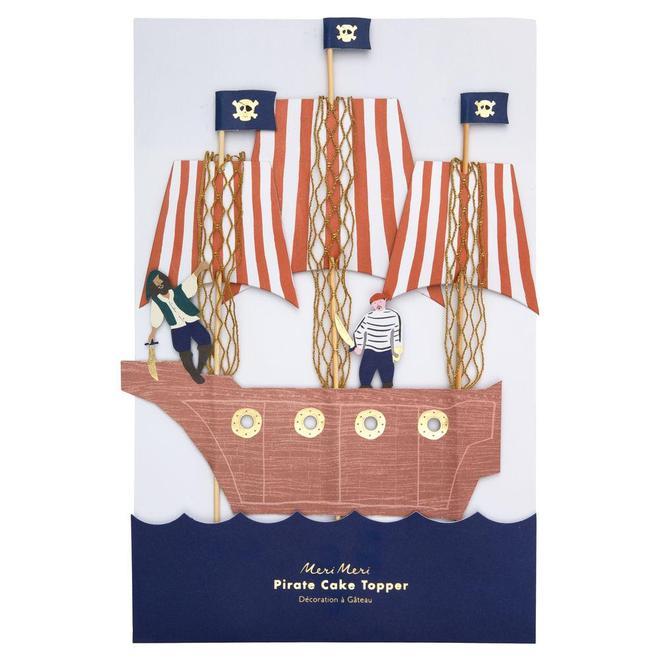 Cake topper bateau pirate