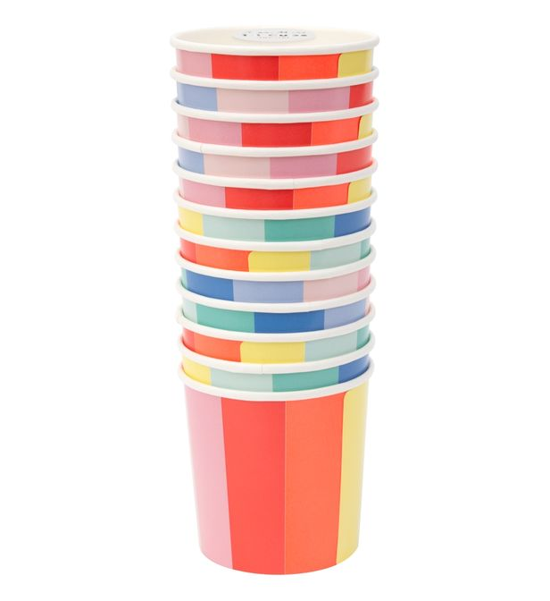 12 gobelets multicolores