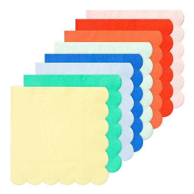20 serviettes en papier assortiment multicolore