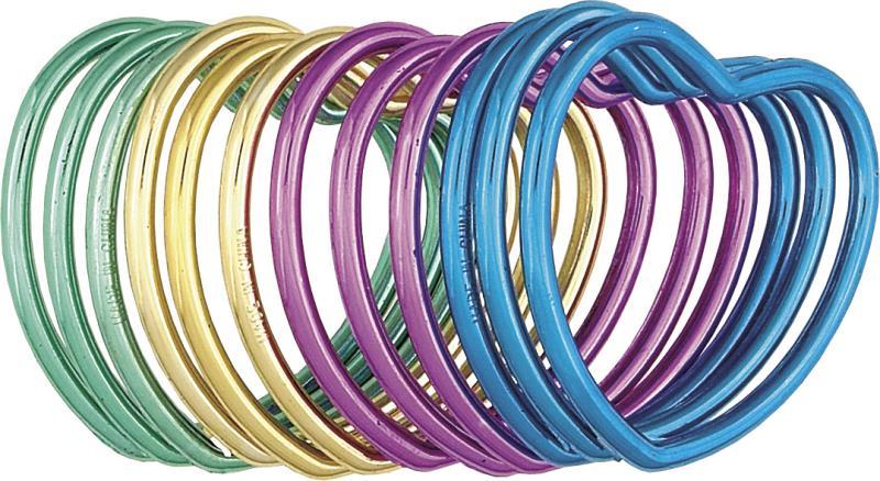 12 bracelets plastique en forme de coeur
