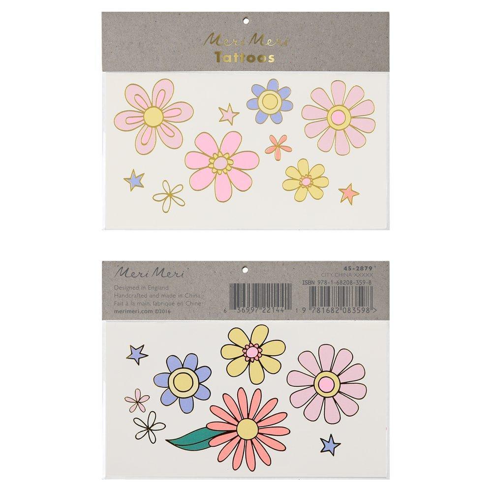 2 planches de tatouages fleurs