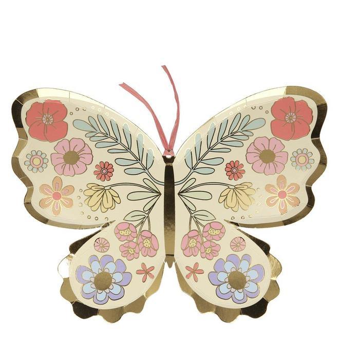 8 assiettes papillons