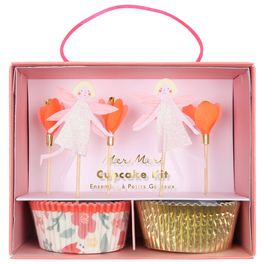 Kit cupcake fée et fleurs