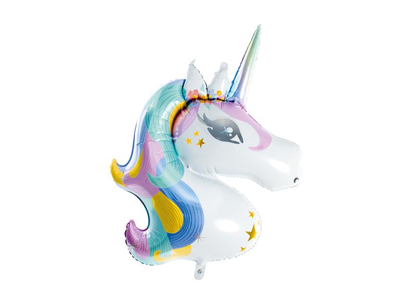 Ballon mylar tête de licorne