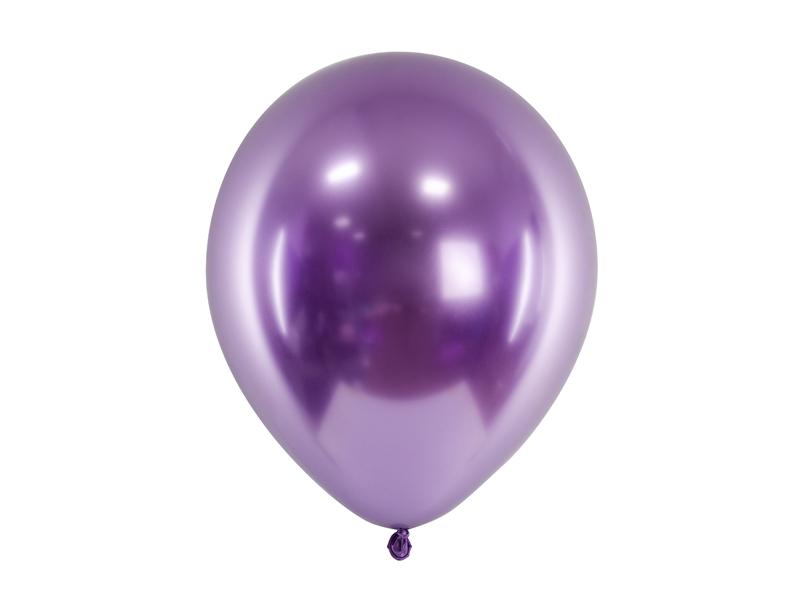 10 ballons de baudruche violet chrome