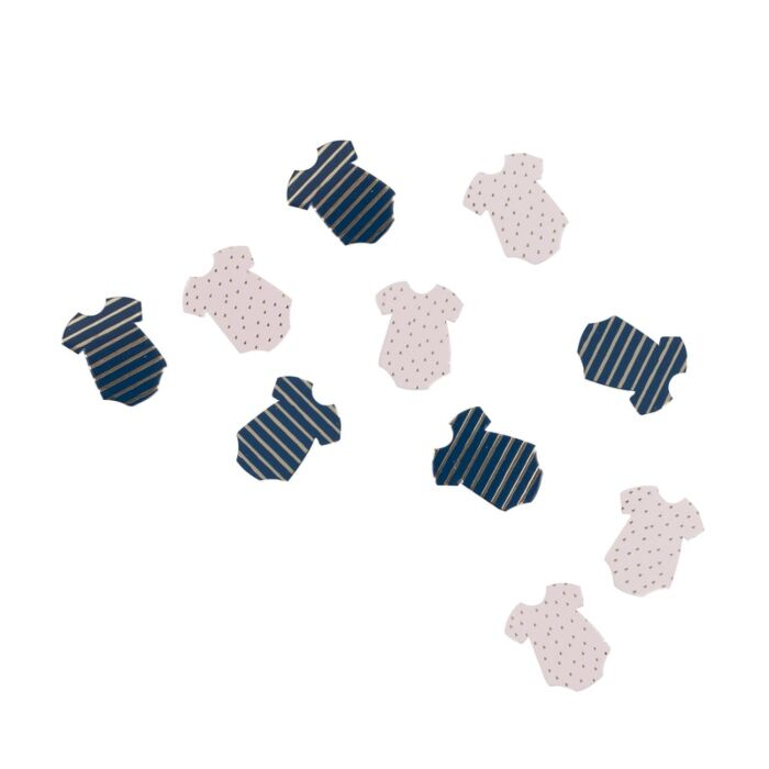 Confettis de table body rose et bleu