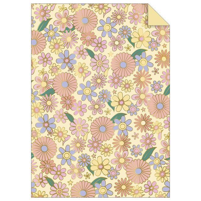 papier-cadeau-flower-power