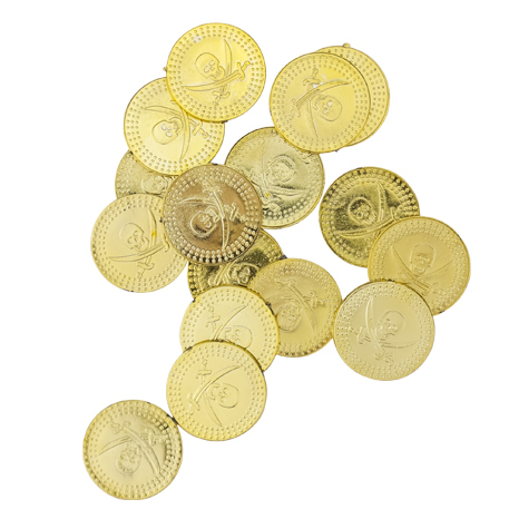 24 pièces de pirate or