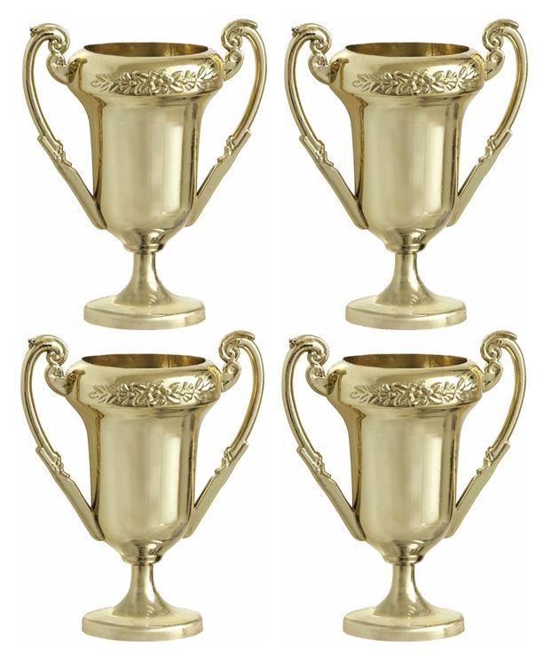 4 trophées de champion 6 cm