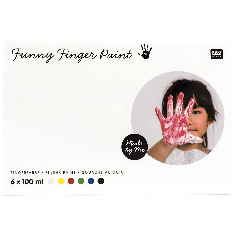 Kit peinture gouache aux doigts - 6 x 100 ml