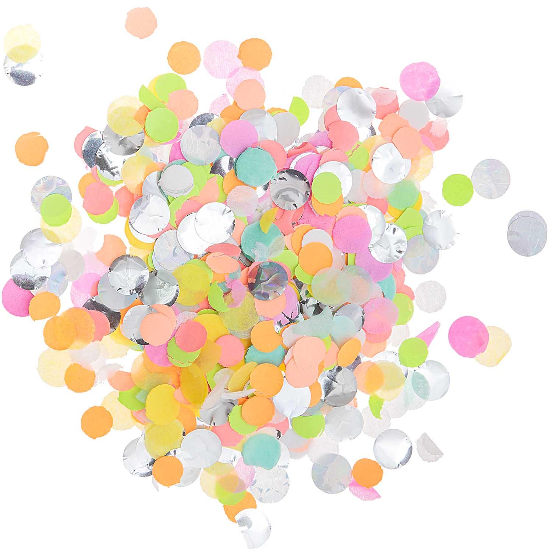 Confettis papier de soie fluo