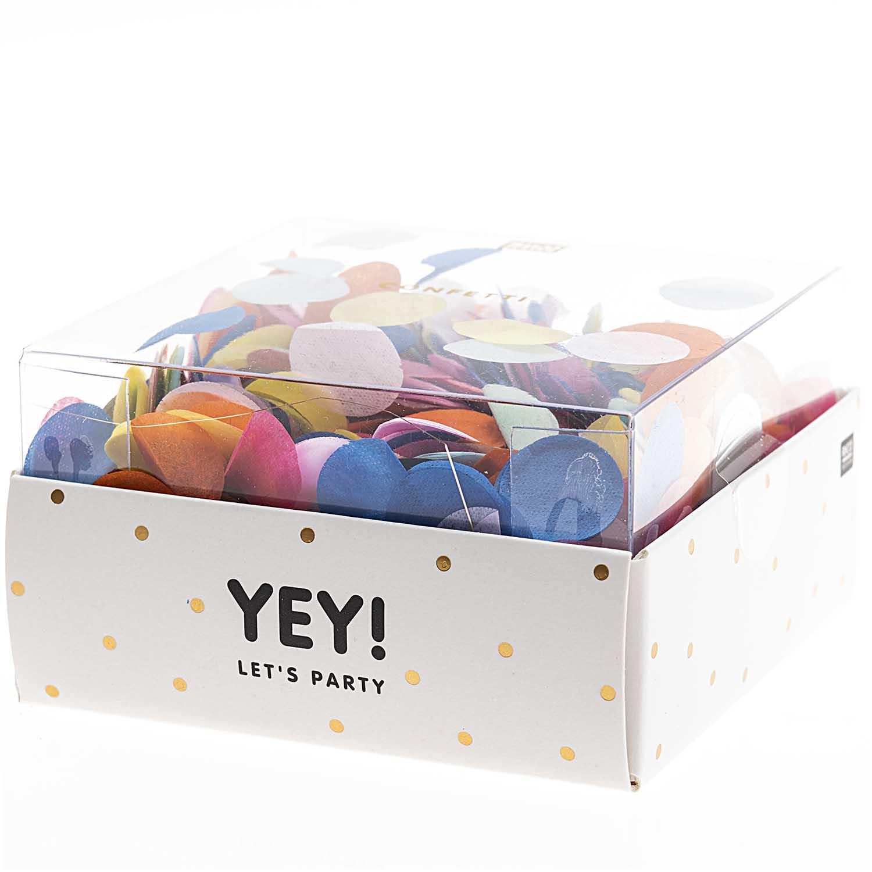 Confettis papier de soie multicolore