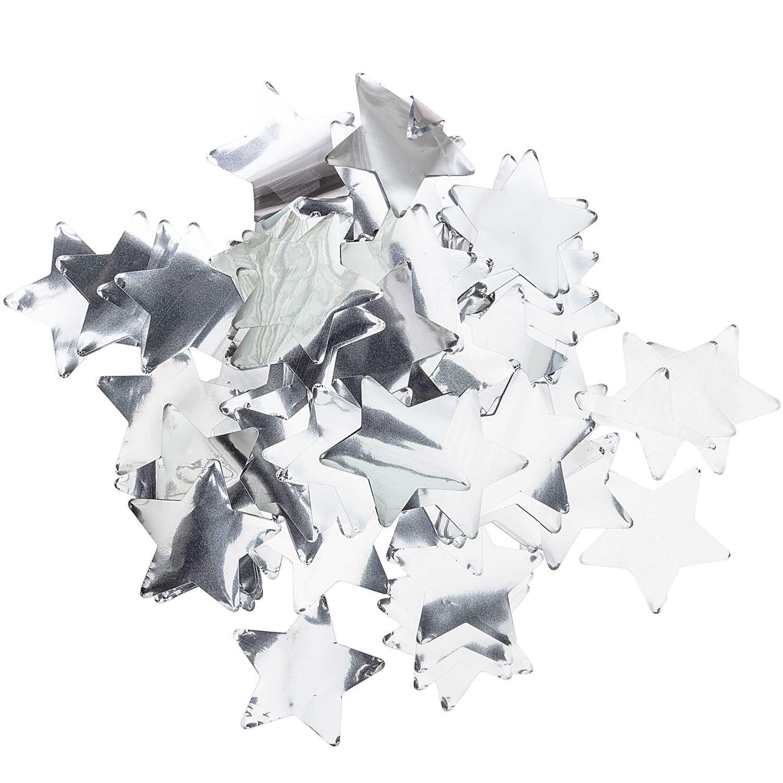 Confettis étoiles argent