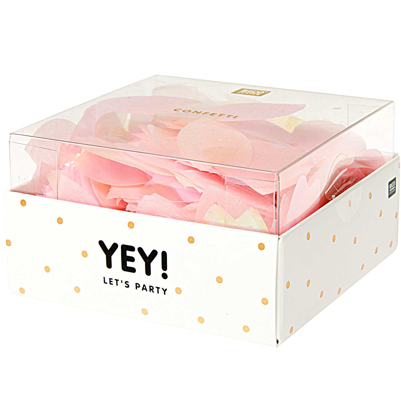 Confettis fleurs rose et pêche