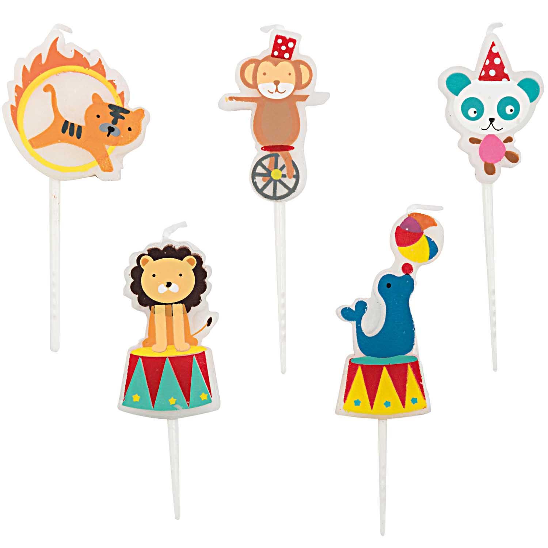 5 bougies anniversaire cirque