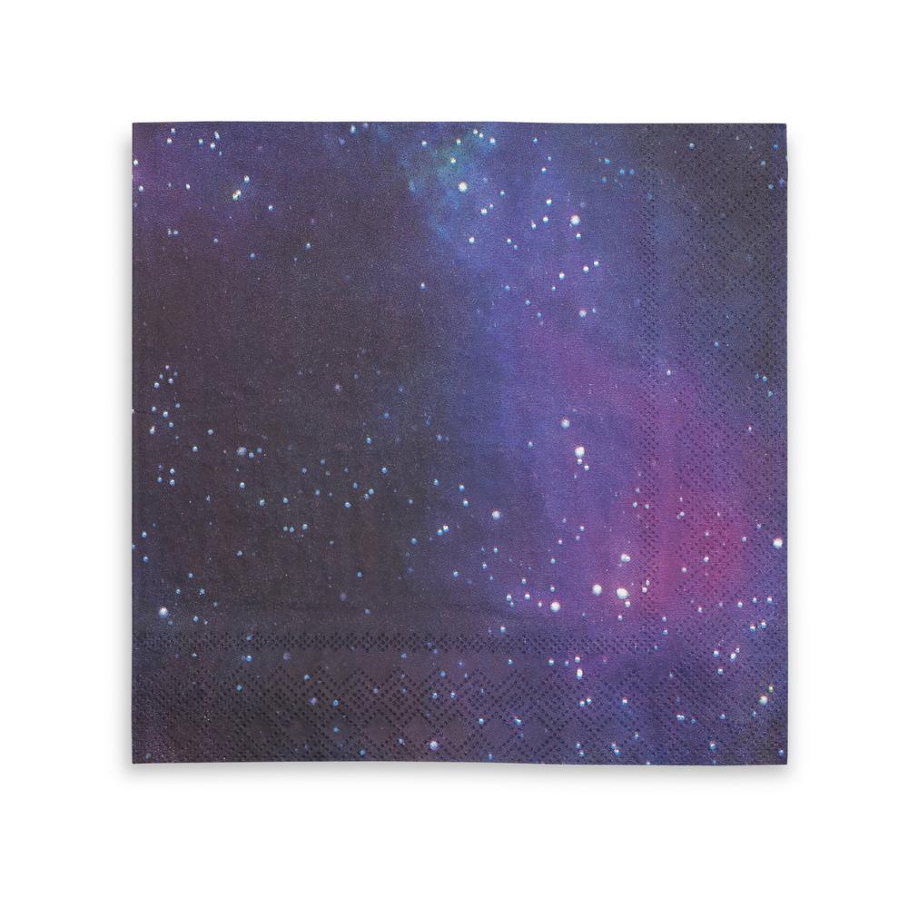 16 serviettes espace galaxie