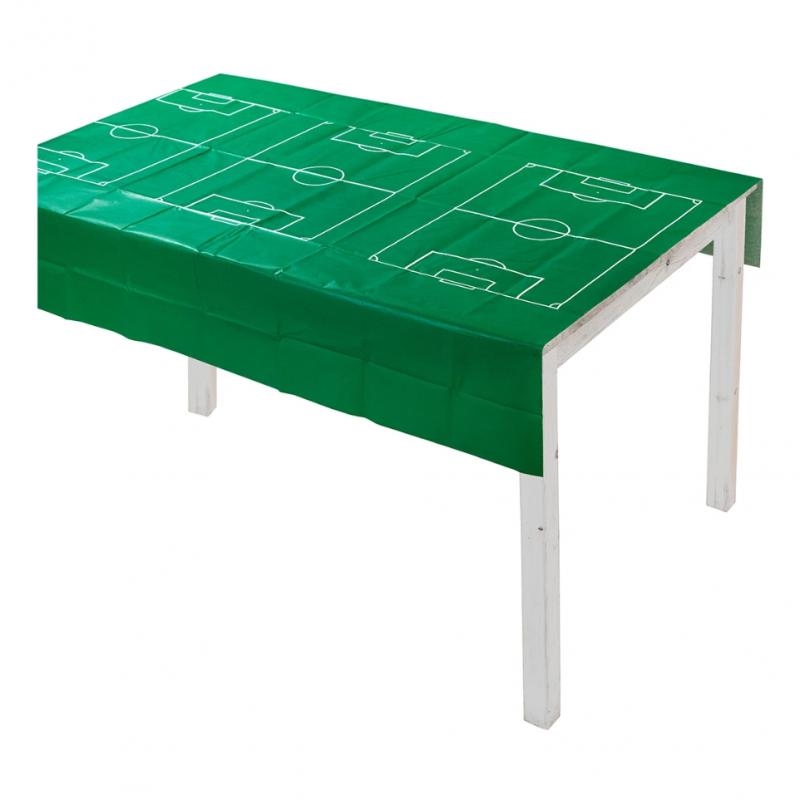 Nappe en papier verte motif foot