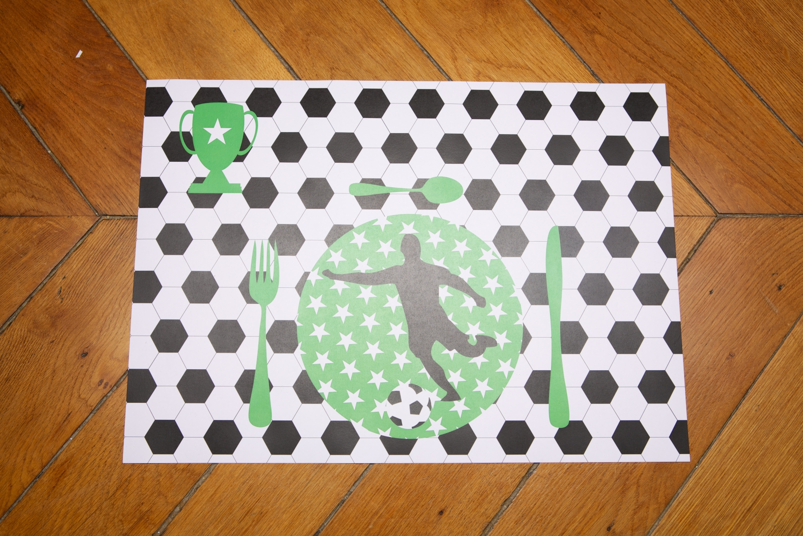 Sets de table papier anniversaire football sweet party day for Set de table originaux