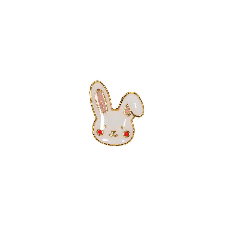 Pin\'s tête de lapin blanc