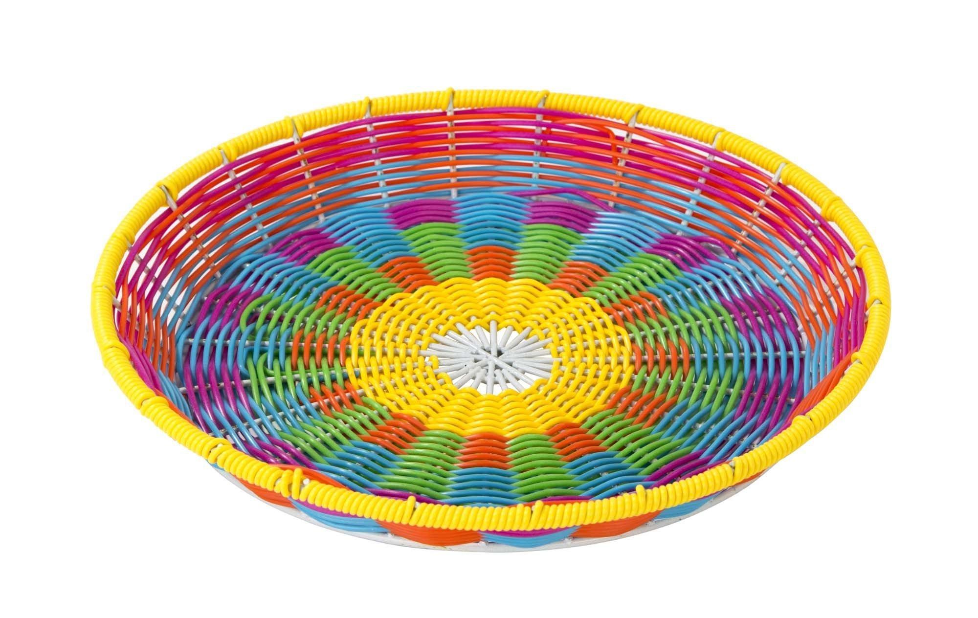 Plateau bohème tissé multicolore