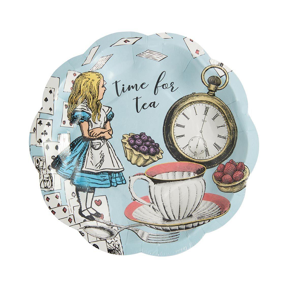 12 assiettes dessert bleues - Alice