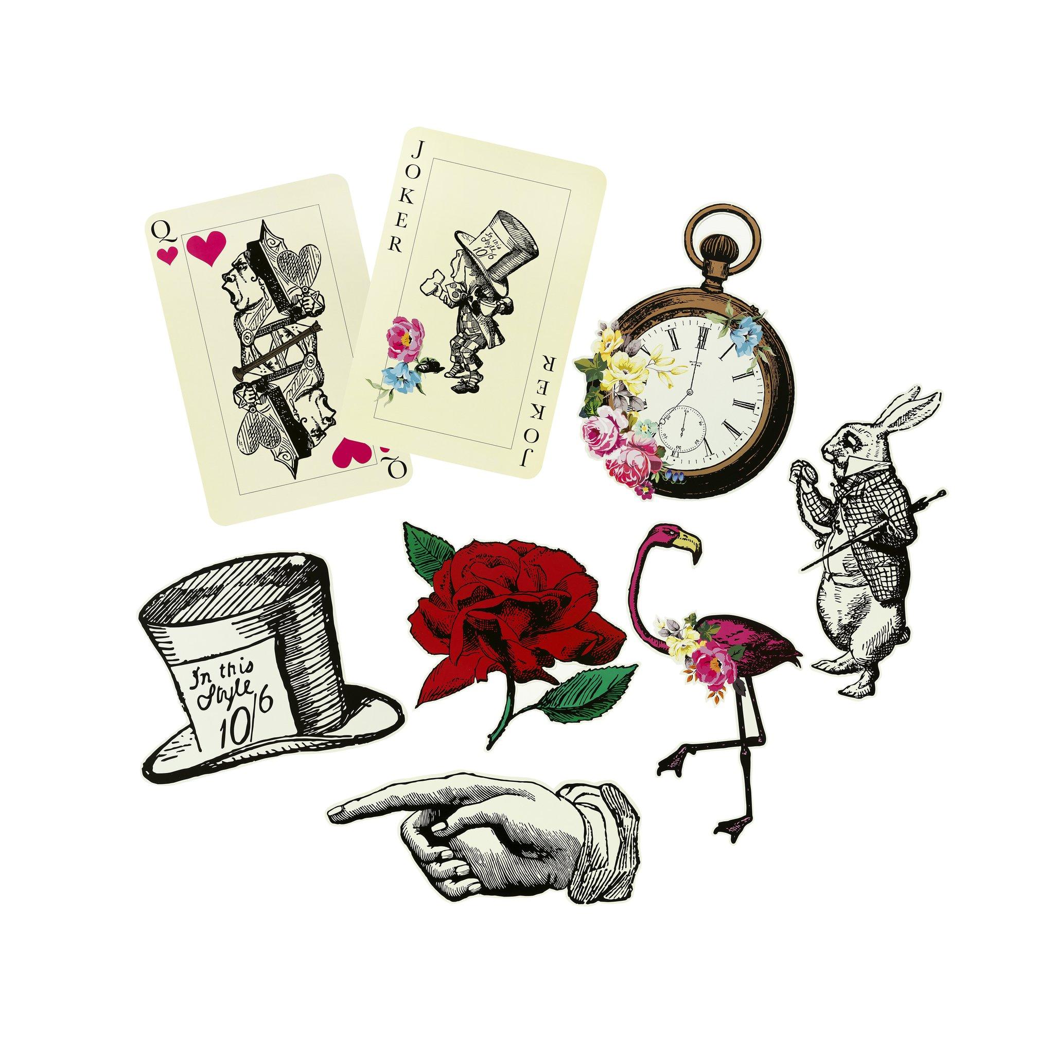 8 accessoires en Papier XL - Alice