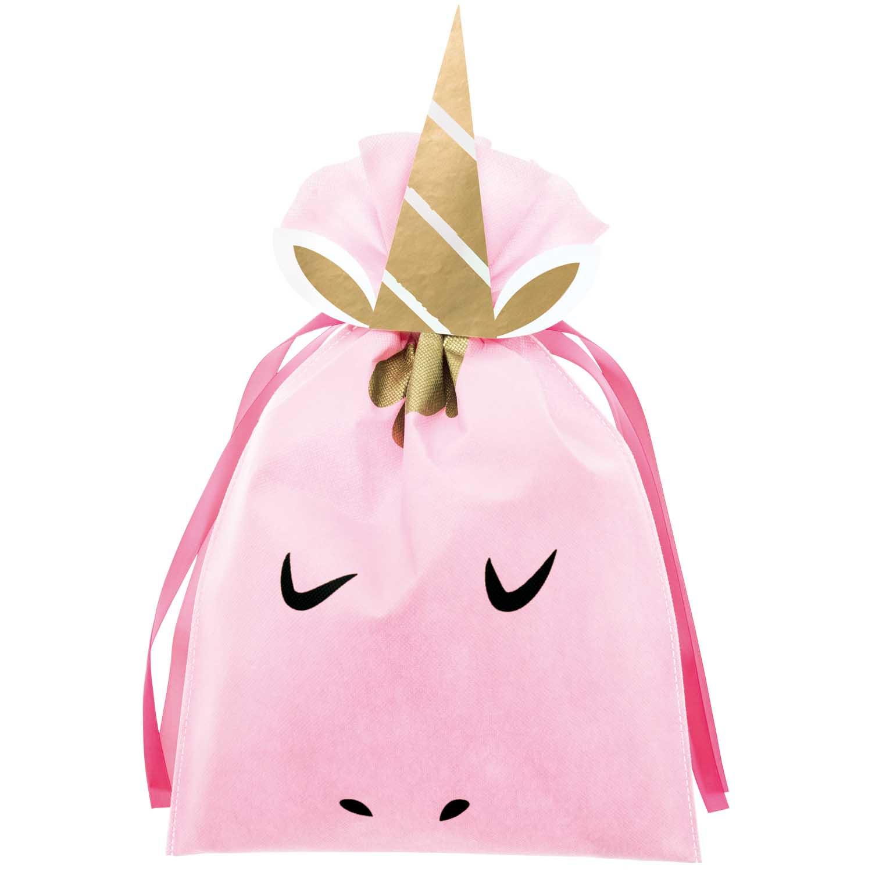 Grand sac cadeau licorne rose