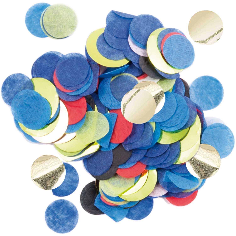 Confettis papier mix bleu doré - 20g
