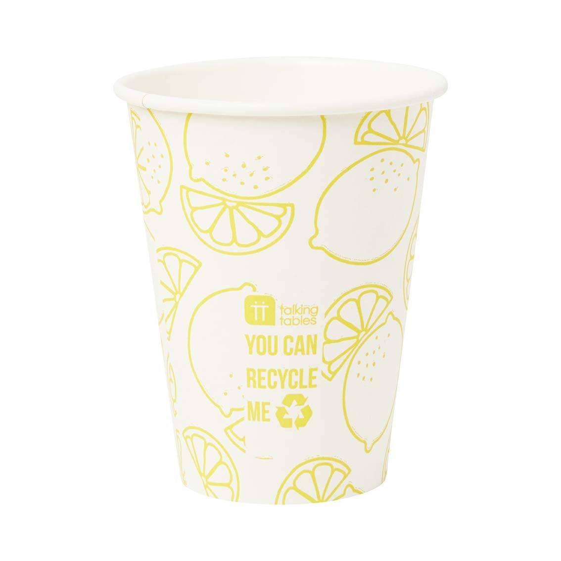 12 gobelets citron