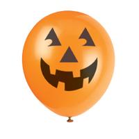 6 ballons citrouille Halloween latex